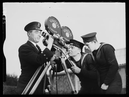 Royal Navy cameramen, 1938.