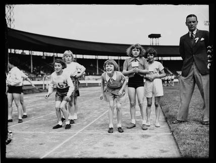 Schools' athletics meeting, White City, London, 13 June 1938.