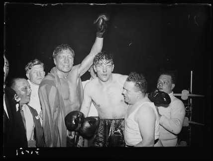 After the boxing match, 1938.