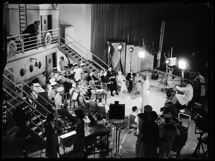 Vera Lynn rehearsing, Radiolympia Exhibition at Olympia, London, 1938