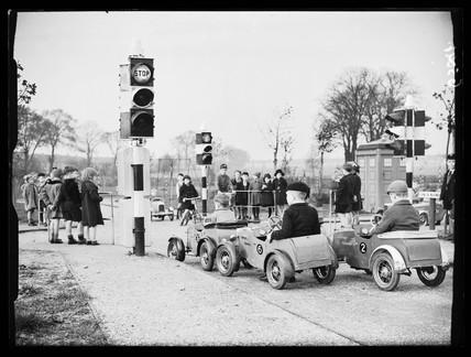 Children's traffic playground, 1938.