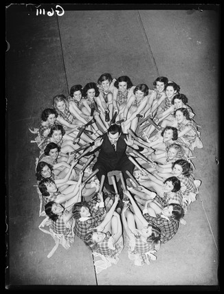 Pantomine rehearsals, Theatre Royal, Drury Lane, London, 1938.