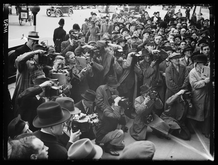 Press photographers, 25 April 1939.