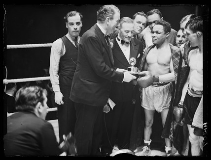 Henry Armstrong, American boxer, 1939.