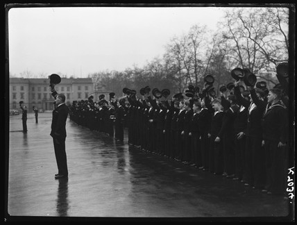 Sea cadets cheering, 1942.