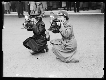 Two war photographers, 13 February 1945.