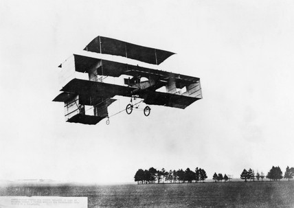 Voisin box-kite, Chalons, 1908.
