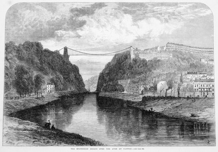 Clifton Suspension Bridge, 1864.