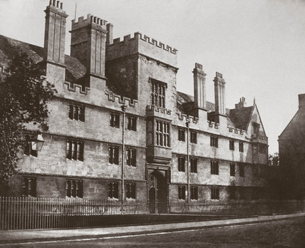 Calotype of Wadham College, Oxford, c 1880