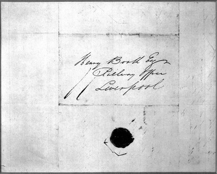 Letter from George Stephenson to Henry Booth.