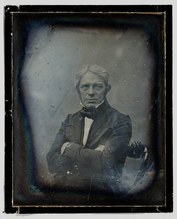 Michael Faraday, English physicist, c 1848.