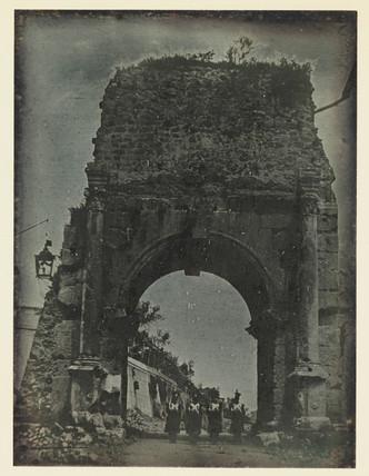 'Rome, Arch of Drusus...', c 1841.
