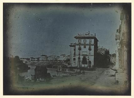 'Rome, Via di Ripetta from the street', c 1841.