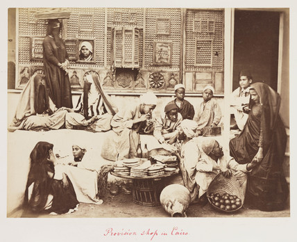 'Provision shop in Cairo', 1882.