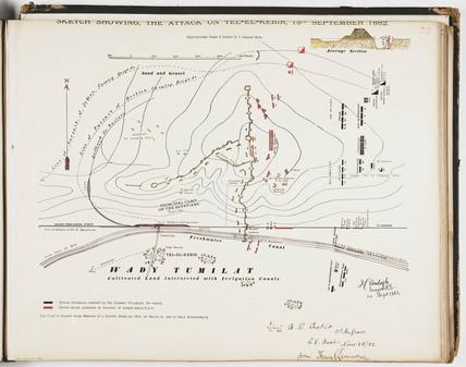 'Sketch Showing the Attack on Tel-el-Kebir, 13th September 1882'.