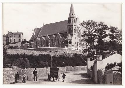 'Torquay, St. Luke's Church, From Croft Road', c 1880.