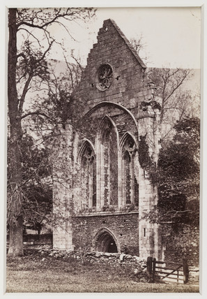 'Valle Crucis Abbey, The West Front', c 1880.