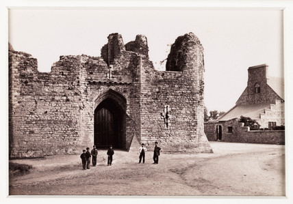 'Llandaff, Old Gateway to Bishop's Palace', c 1880.