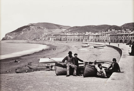'Aberystwyth, The Parade and Beach', c 1880.