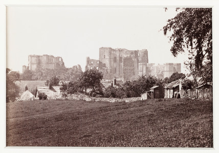 'Kenilworth Castle, from the Castle Hill', c 1880.
