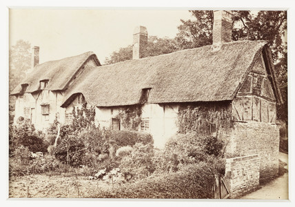 'Stratford-on-Avon, Ann Hathaway's Cottage at Shottery', c 1880.