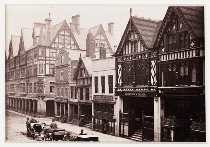 'Chester, Eastgate Street and Grosvenor Hotel', c 1880.