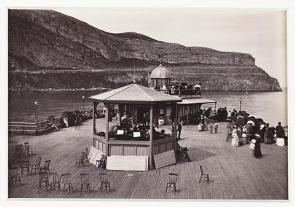'Llandudno, on the Pier-head, the Orchestra', c 1880.