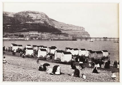 'Llandudno, the Beach and Ormes Head', c 1880.