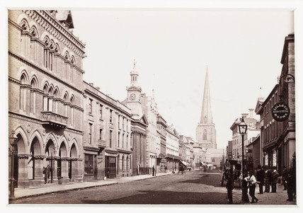 'Hereford, Broad Street and Free Library', c 1880.