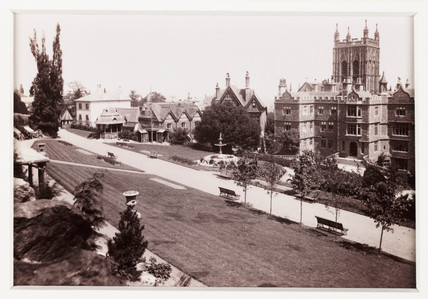 'Malvern, the Promenade Gardens', c 1880.