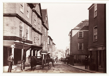 'Totnes, Old Houses in High Street', c 1880.