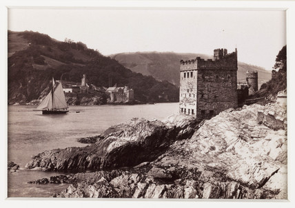 'Dartmouth Castle and Kingswear Castle', c 1880.