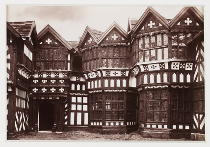 'Little Moreton Hall, The Courtyard', c 1880.