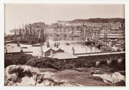 'Portmadoc Harbour and Garth', c 1880.