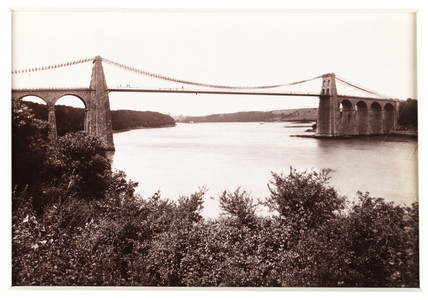 Menai Suspension Bridge, c 1880.
