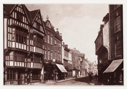 'Tewkesbury, High Street', c 1880.