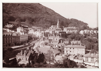 'Malvern, The Town and North Hill', c 1880.