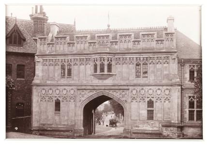 'Malvern Priory Gateway', c 1880.
