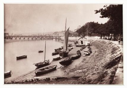 'Barnstaple, The Bridge and River Taw', c 1880.