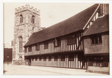 'Stratford-on-Avon, Guild Chapel and Grammar School', c 1880.