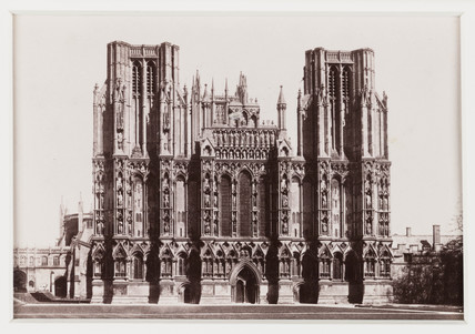 'Wells Cathedral, West Front', c 1880.