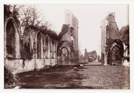 'Glastonbury, Ruins of Abbey From East', c 1880.