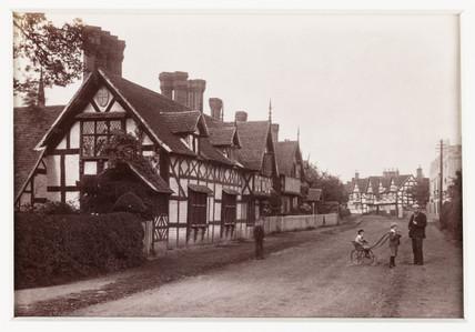 'Ombersley Village', c 1880.