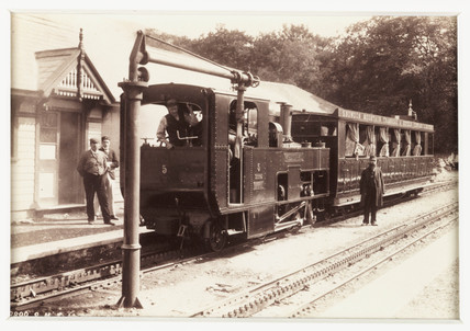 'Llanberis, Station and Train', 1894.