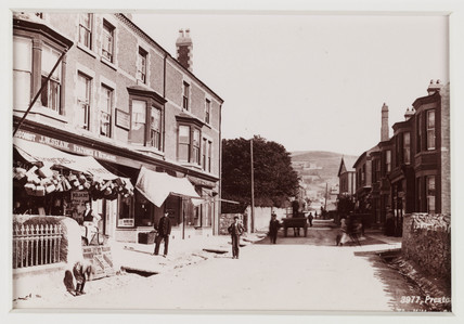 'Prestatyn, The Village Street', c 1880.