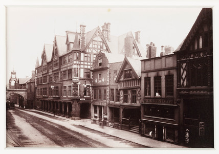 'Chester, Eastgate and Row', c 1880.