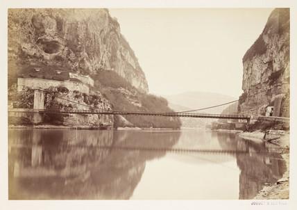 'Pont pres le Fort L'Ecluse', c 1865.
