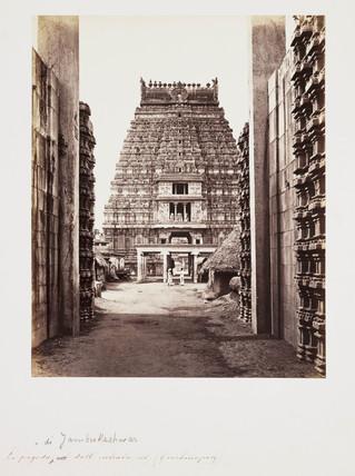 Hindu temple, Tamil Nadu, India, c 1865.