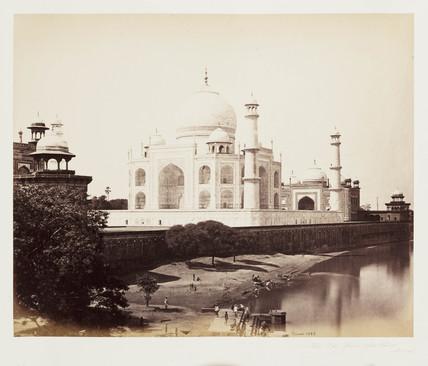 'The Taj Fom The River, Agra', c 1865.