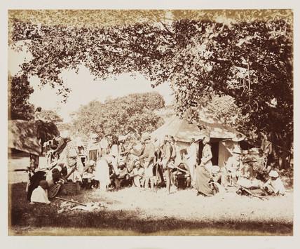 'The Tiger Hunt', c 1865.